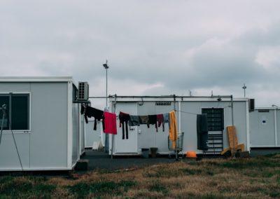 Skaramangas camp clothesline